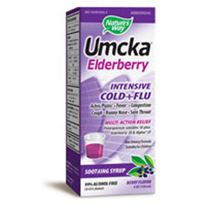 Umcka Elderberry Intensive Cold Plus Flu 4 oz by Nature's Way (2588117368917)