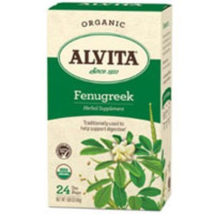 Organic Herbal Tea Fenugreek 24 BAGS by Alvita Teas