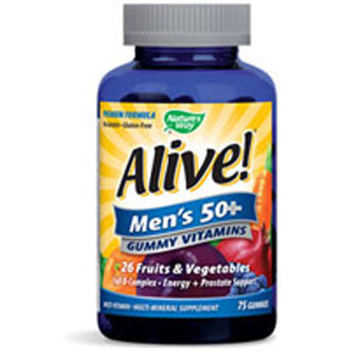 Alive! Men's 50 Plus Gummy Vitamins 75 GUMMIES by Nature's Way