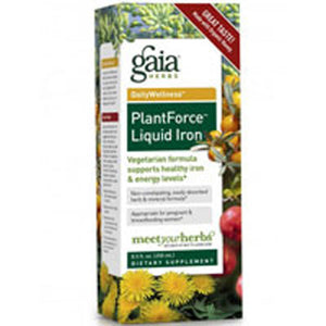 Plantforce Liquid Iron 8.5 oz by Gaia Herbs (2588162261077)
