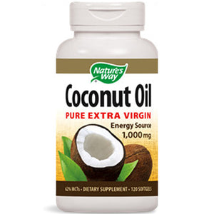 Coconut Oil Pure Extra Virgin 120 sgel by Nature's Way (2587651833941)