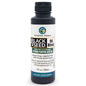 Black Seed Oil With Pumpkin Seed 8 oz by Amazing Herbs (2590118838357)