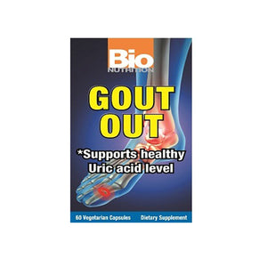 Gout Out 60 VCaps by Bio Nutrition Inc (2590119329877)