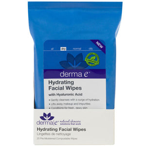 Hydrating Facial Wipes 25 Ct by Derma e (2590124834901)