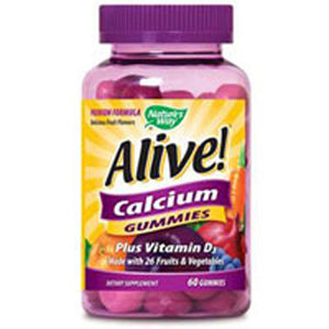 Alive! Calcium Gummy 60 Gummy by Nature's Way