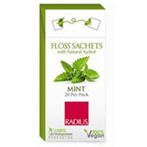 Floss Sachets Vegan Xylitol Mint 20 Ct by Radius Toothbrushes (2590139121749)