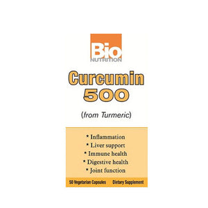 Curcumin 500 50 Veg Caps by Bio Nutrition Inc (2590167990357)