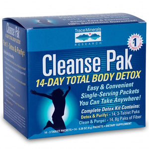 Cleanse Pak 14-Day Total Body Detox Kit Part 2 sample 8g Packet by Trace Minerals (2590150525013)