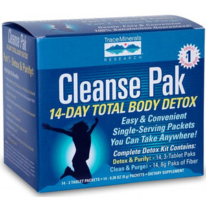 Cleanse Pak 14-Day Total Body Detox Kit Part 1 Sample 3 Tab Packet by Trace Minerals (2590150492245)