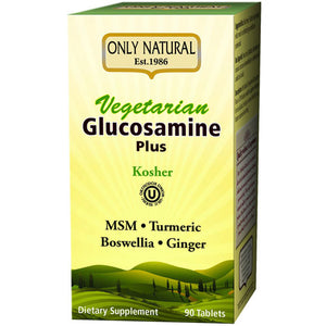 Vegetarian Glucosamine Plus (Kosher) 90 Veg Caps By Only Natural,