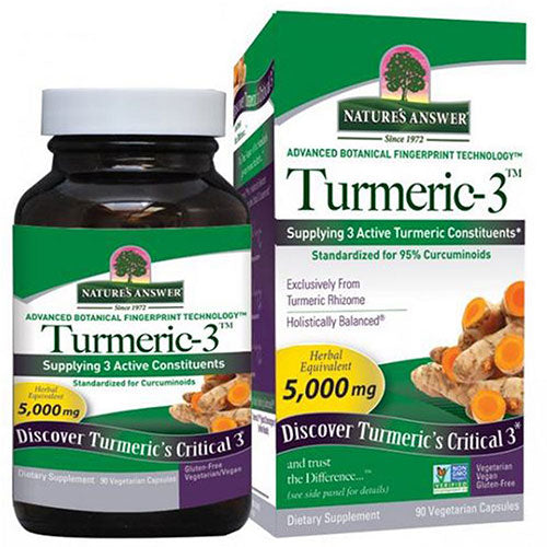 Turmeric-3 90 Veg Caps by Nature's Answer