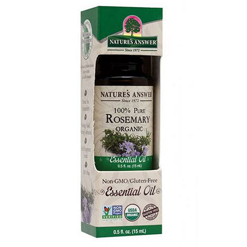 Essential Oil Organic Rosemary 0.5 Oz by Nature's Answer
