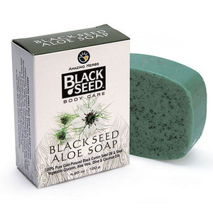 Black Seed Aloe Soap 4.25 oz by Amazing Herbs (2590181130325)