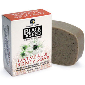 Black Seed Oatmeal & Honey Soap 4.25 oz by Amazing Herbs (2590181195861)