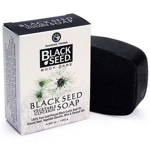 Black Seed Vegetable Glycerin Soap 4.25 oz by Amazing Herbs (2588299886677)