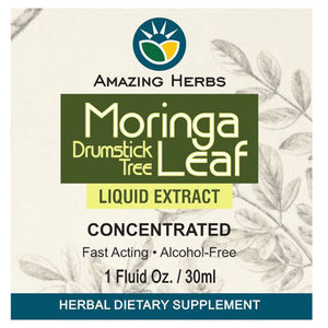 Black Seed Moringa Leaf Liquid Extract 1 oz by Amazing Herbs (2588301000789)