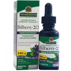 Bilberry-20 Alcohol-Free,1 Oz by Nature's Answer (2590198235221)