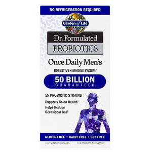 Dr. Formulated Probiotics Once Daily Men's 30 Caps by Garden of Life, (2588388130901)