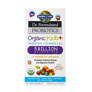 Dr. Formulated Probiotics Organic Kids+ 30 Chews by Garden of Life (2588388589653)