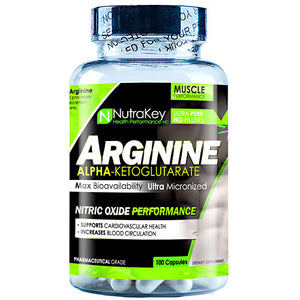 ARGININE AKG 500 mg 100 caps by Nutrakey (2590259249237)