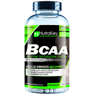 BCAA 1500 400 Caps By Nutrakey (2590259445845)