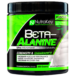 BETA ALANINE Unflavored 300 grams by Nutrakey (2590259806293)