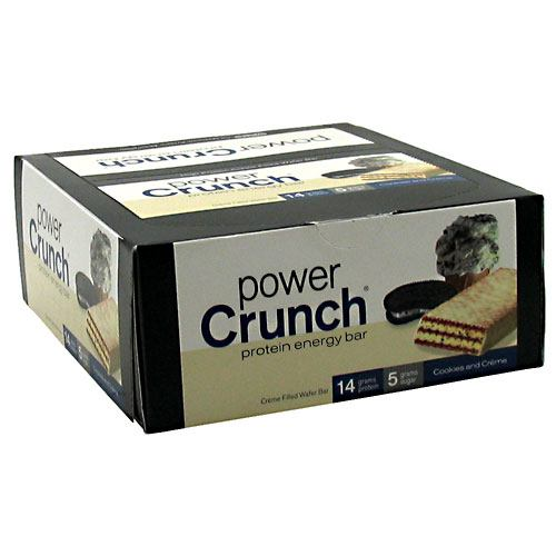 Power Crunch Cookies & Cream 1.4 oz(pack of 12) by Power Crunch