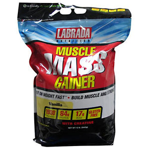 Muscle Mass Gainer Vanilla 12 lbs by LABRADA NUTRITION (2588436201557)