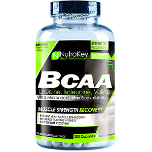 BCAA 1500 200 Vcaps By Nutrakey (2590259380309)