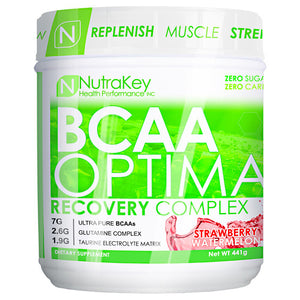 BCAA OPTIMA Strawberry Watermelon 30 serving by Nutrakey (2588450390101)