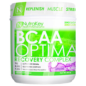 BCAA OPTIMA Grape 30 serving by Nutrakey (2590261280853)