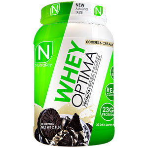 WHEY OPTIMA Cookies and Cream 2.1 lbs by Nutrakey (2588450586709)
