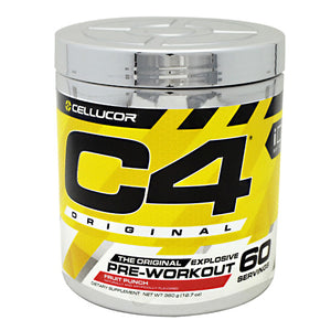 C4 Pre-Workout Fruit Punch 12.7 oz, 60 servings by Cellucor (2590262460501)