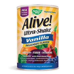 Alive Soy Ultra-Shake Vanilla 2.2 Lb by Nature's Way