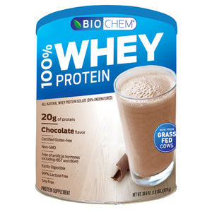 100% Whey Protein Powder Chocolate 1.8 lb by Biochem (2587246166101)