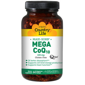 Mega Q-Gel 60 Softgels by Country Life (2587247378517)