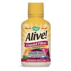 Alive! Liquid Fiber with Prebiotics Pomegranate-Berry 16 fl oz by Nature's Way (2590186831957)