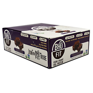BHU Fit Bar Superfood Chocolate Chip + Fudge Brownie Butter 12 Bars by BHU Foods (2590317412437)