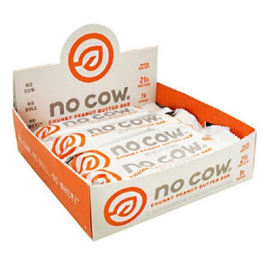No Cow Bar Chocolate Fudge Brown 12 Bars by D's Naturals (2590316691541)