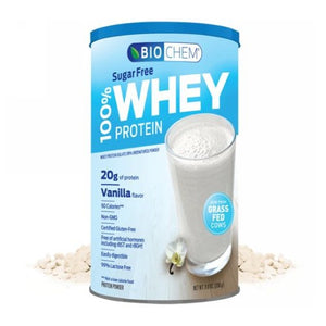 100% Whey Protein Sugar Free Vanilla 11.8 Oz by Biochem (2590329569365)