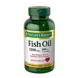 Fish Oil 12 X 200 Coated Softgels by Nature's Bounty (4753996152917)