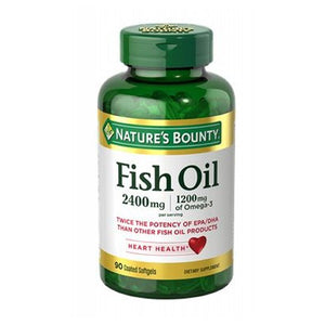 Fish Oil Double Strength Odorless 24 X 90 Coated Softgels by Nature's Bounty (4753996251221)