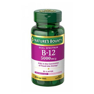 Dual Spectrum Bi-Layer B-12 24 X 30 Count by Nature's Bounty (4753998512213)