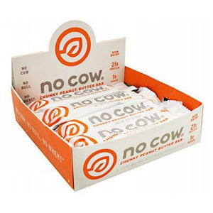 No Cow Bar Chunky Peanut Butter 12 Bars by D's Naturals (4754005033045)
