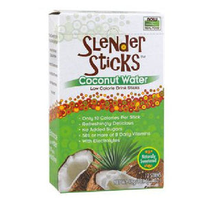 Coconut Water Slender Sticks 12 Packets by Now Foods (4754010800213)