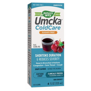 Umcka ColdCare Sugar Free Grape Syrup 4 Oz by Nature's Way