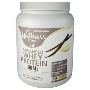 Advanced Whey Protein Isolate Vanilla 454 Grams by Life Extension