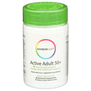 Active Adult 50+ Multivitamin 30 Tabs by Rainbow Light,