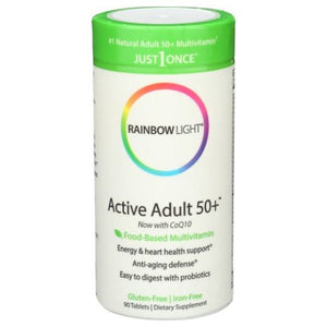 Active Adult 50+ Multivitamin 90 Tabs by Rainbow Light