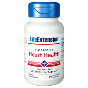 Florassist Heart Health Probiotic 60 Capsules by Life Extension